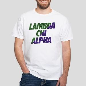 Lambda Chi Alpha Athletic White T-Shirt