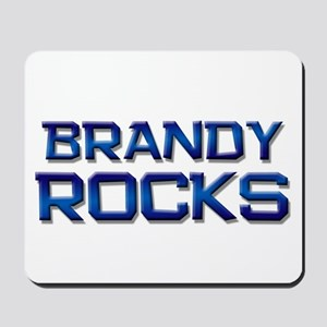 brandy rocks Mousepad