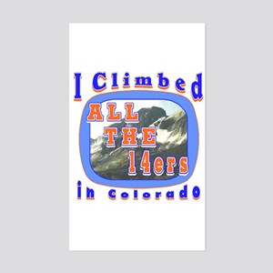 I climbed all the 14ers in Co Rectangle Sticker