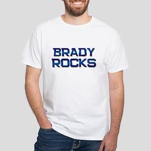 brady rocks White T-Shirt