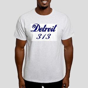 Detroit Michigan 313 area code Ash Grey T-Shirt