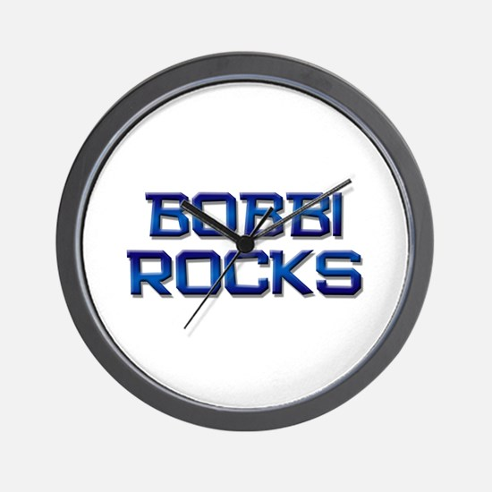 bobbi rocks Wall Clock