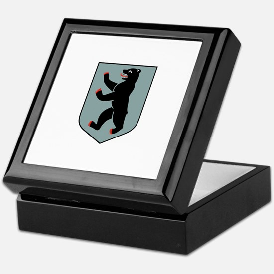 state logo of Berlin (silver) Keepsake Box