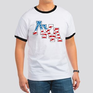Lambda Chi Alpha Letters Flag Ringer T