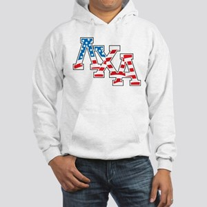 Lambda Chi Alpha Letters Flag Hooded Sweatshirt