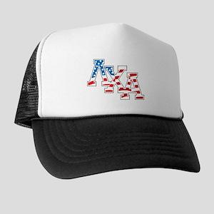 Lambda Chi Alpha Letters Flag Trucker Hat