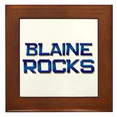 blaine rocks Framed Tile