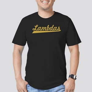 Lambda Chi Alpha Lambd Men's Fitted T-Shirt (dark)
