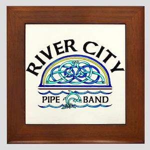 River City Pipe Band Logo Framed Tile