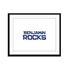 benjamin rocks Framed Panel Print
