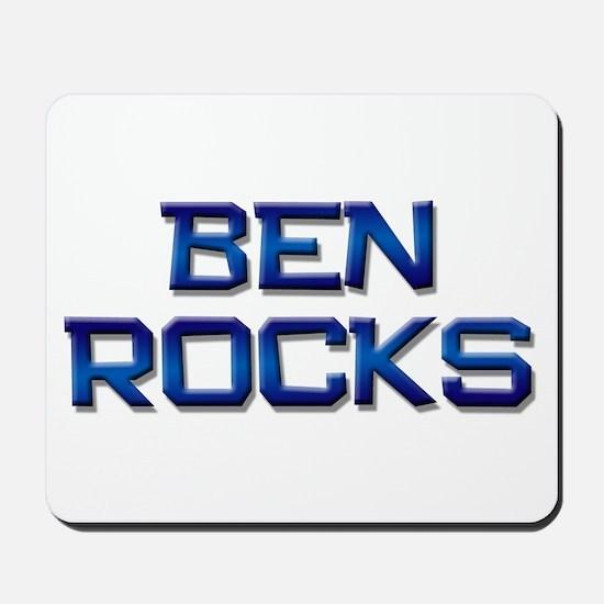 ben rocks Mousepad