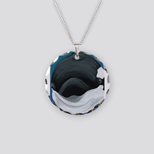 Orca Killer Whale Necklace Circle Charm