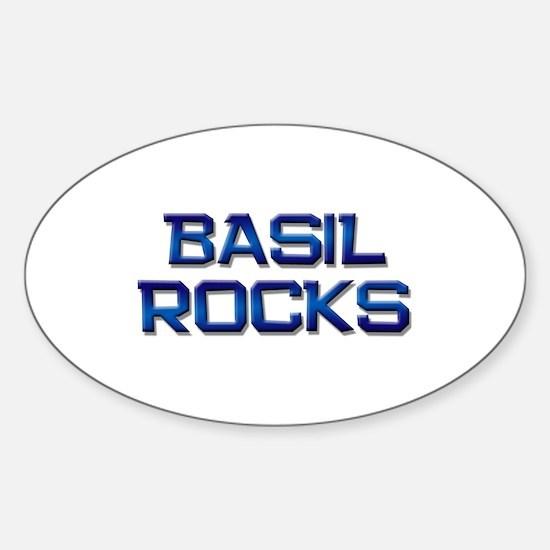 basil rocks Oval Decal