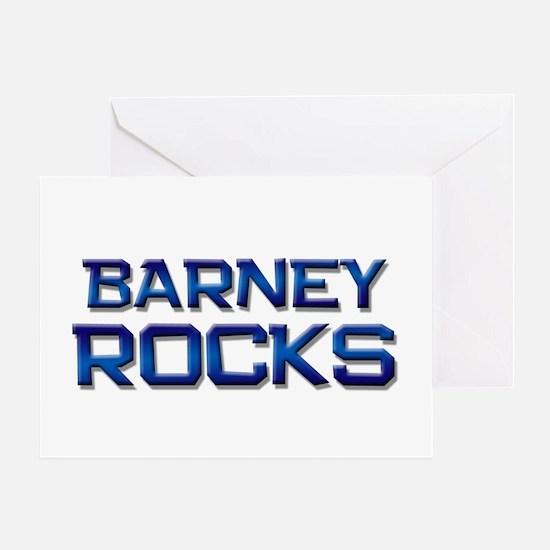 barney rocks Greeting Card
