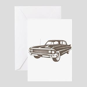 1961 Cadillac Coupe de Ville Greeting Card