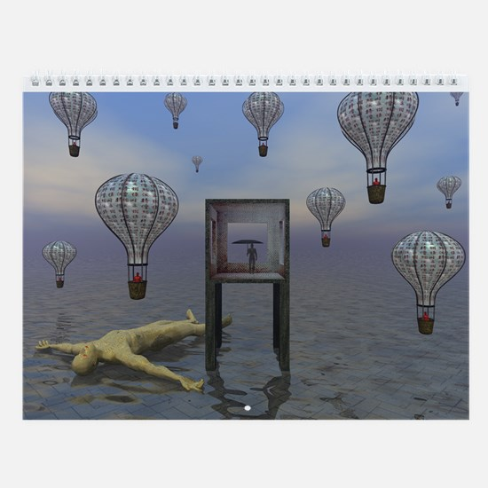 --- Digital Surrealism --- Wall Calendar