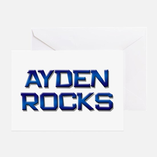ayden rocks Greeting Card