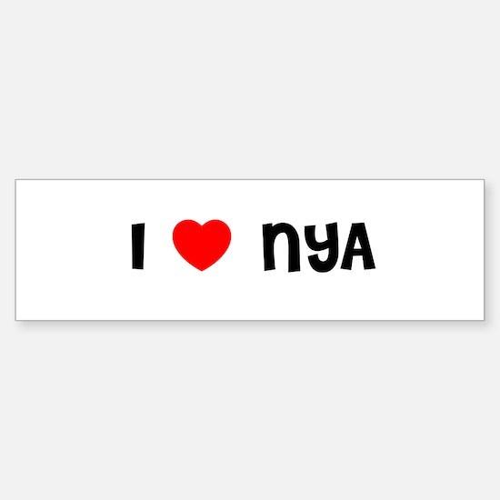 I LOVE NYA Bumper Bumper Bumper Sticker