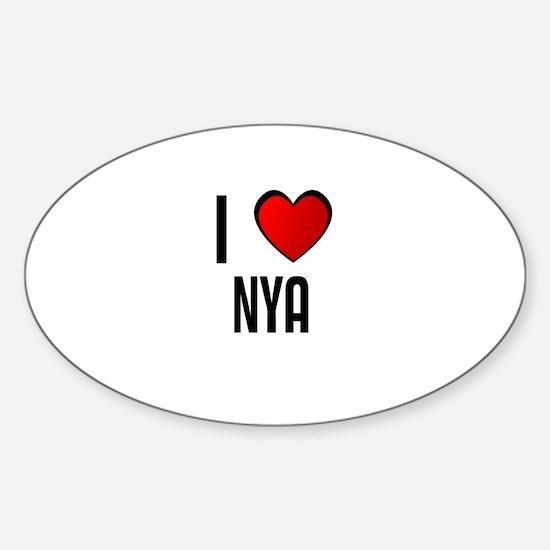 I LOVE NYA Oval Decal