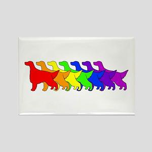 Rainbow Irish Setter Rectangle Magnet