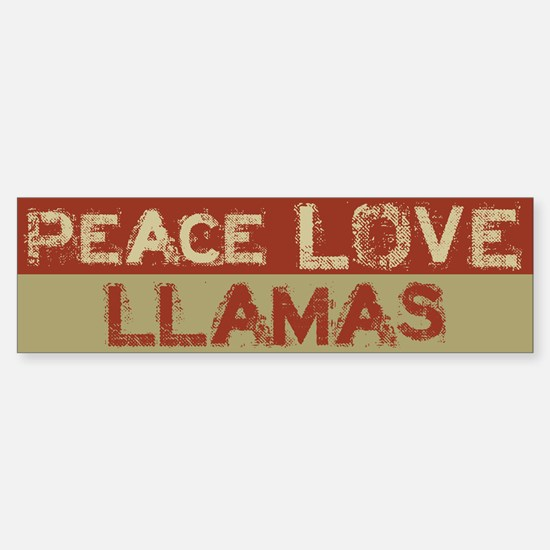 Peace Love Llamas Bumper Bumper Bumper Sticker
