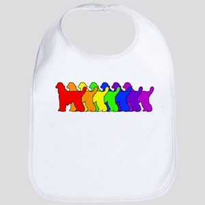 Rainbow Afghan Hound Bib