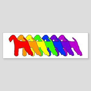 Rainbow Airedale Terrier Bumper Sticker