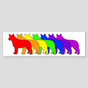 Rainbow Blue Heeler Bumper Sticker