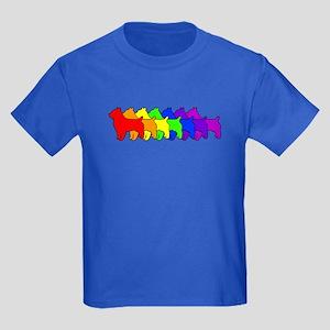 Rainbow Australian Terrier Kids Dark T-Shirt