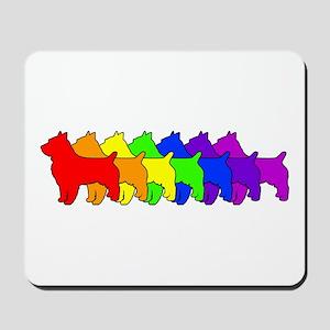 Rainbow Australian Terrier Mousepad