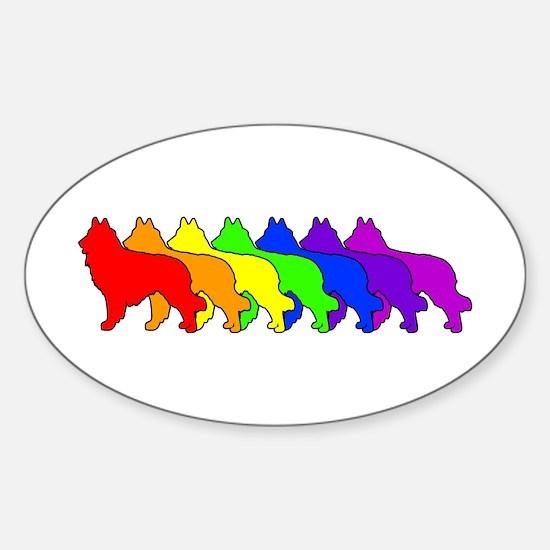 Rainbow Tervuren Oval Decal