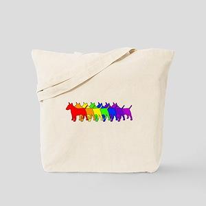 Rainbow Bull Terrier Tote Bag