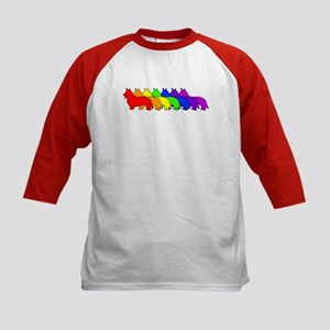 Rainbow Cardigan Kids Baseball Jersey