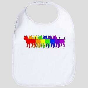 Rainbow Chihuahua Bib