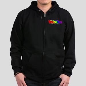 Rainbow Clumber Spaniel Zip Hoodie (dark)