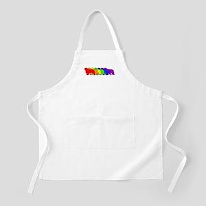 Rainbow Clumber Spaniel BBQ Apron