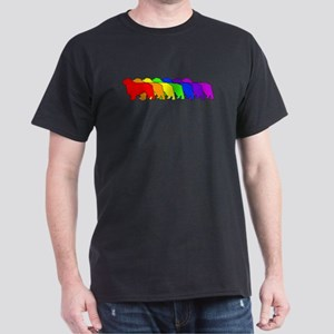 Rainbow Clumber Spaniel Dark T-Shirt