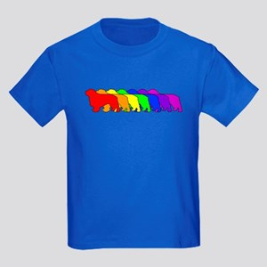 Rainbow Clumber Spaniel Kids Dark T-Shirt