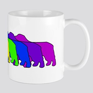 Rainbow Clumber Spaniel Mug