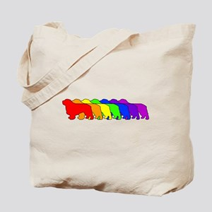 Rainbow Clumber Spaniel Tote Bag