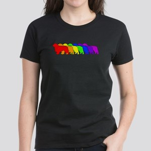 Rainbow Clumber Spaniel Women's Dark T-Shirt