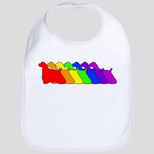 Rainbow Cocker Spaniel Bib