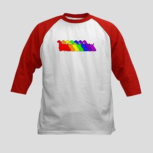 Rainbow Cocker Spaniel Kids Baseball Jersey