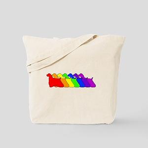 Rainbow Cocker Spaniel Tote Bag