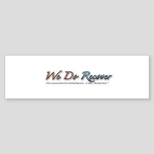 """""""We Do Recover"""" Bumper Sticker"""