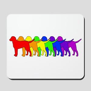 Rainbow Curly Mousepad