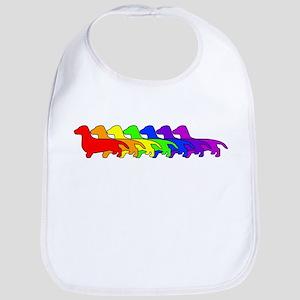 Rainbow Dachshund Bib