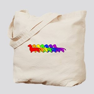 Rainbow Dachshund Tote Bag
