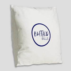 Buffalo Burlap Throw Pillow