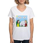 Popcorn Igloo Women's V-Neck T-Shirt